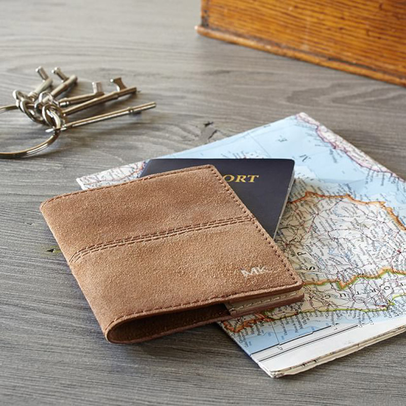 Mila Suede Travel Passport Cover, $24.50.