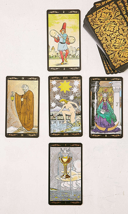 Golden Universal Tarot Card Deck, $35.