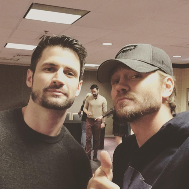 The Scott brothers are back! <em>One Tree Hill</em>'s Chad Michael Murray and James Lafferty reunited with fans - and posed for this epic selfie - at the 2016 EyeCon event.