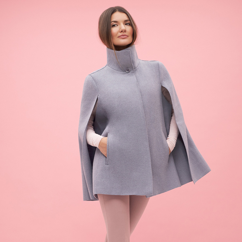 Sentaler Stand Collar Cape, $895. 