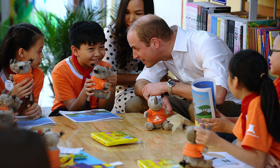 Students at Hong Ha Primary school were delighted to receive a visit from the future king of England.  