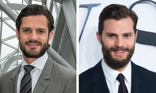 Prince Carl Philip of Sweden and <i>Fifty Shades of Grey</i> star Jamie Dornan.