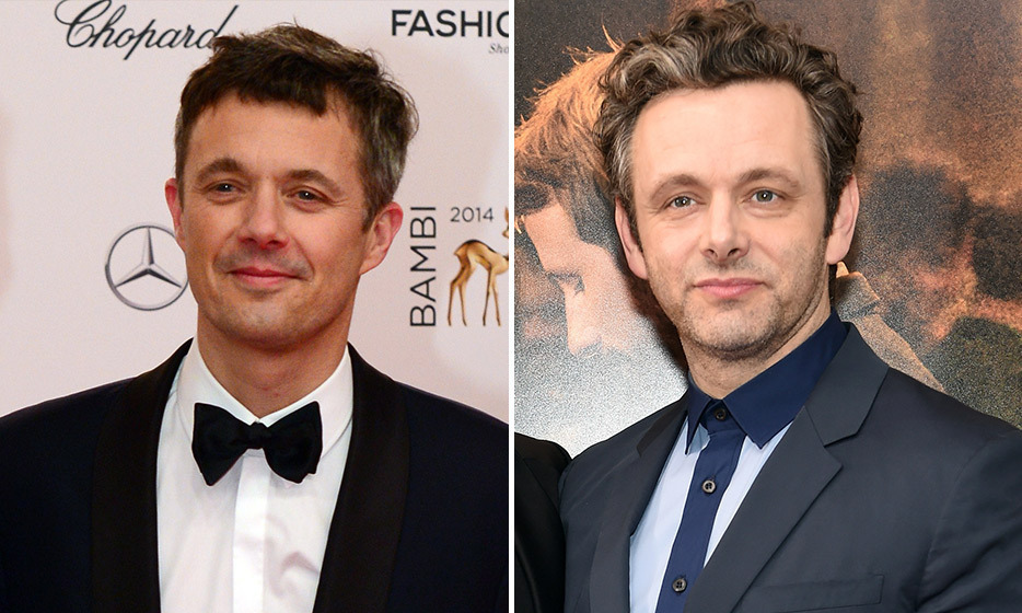 Crown Prince Frederik of Denmark and actor Michael Sheen.