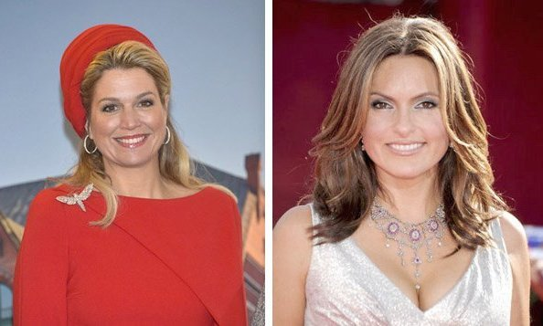 Queen Maxima of the Netherlands and Mariska Hargitay of <i>Law & Order: Special Victims Unit</i>.