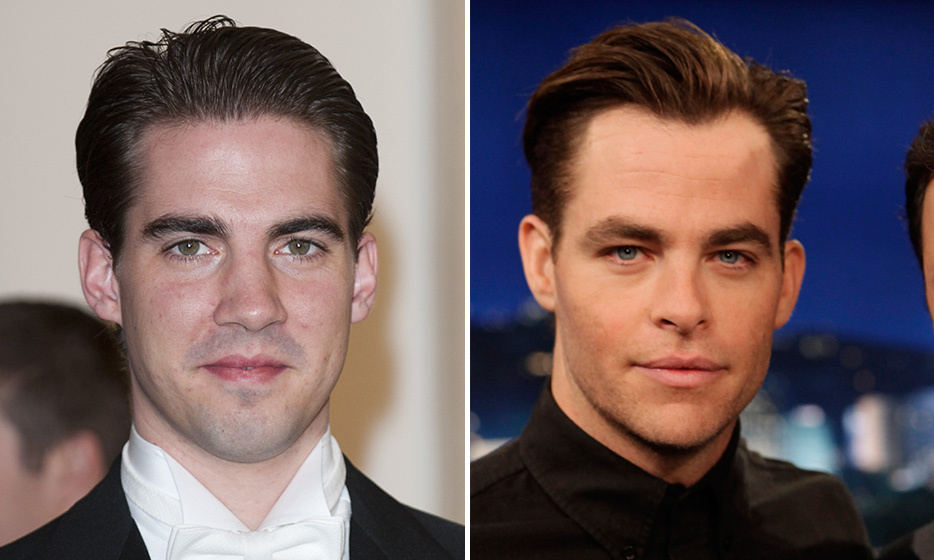 Prince Philippos of Greece and Chris Pine.