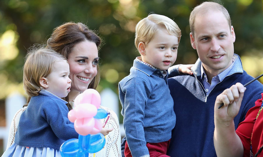 The duke was delighted to take his children to a party thrown in their honour during the family's tour of Canada in 2016. 