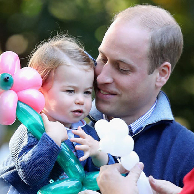 "Little Charlotte also got in some ""daddy and me"" time. 