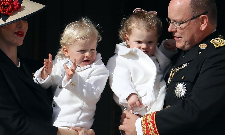 Twins Jacques and Gabriella, who turned two a few weeks after National Day on Dec 2, looked sweet in their matching white outfits. The princess' jacket was by Armani Junior.