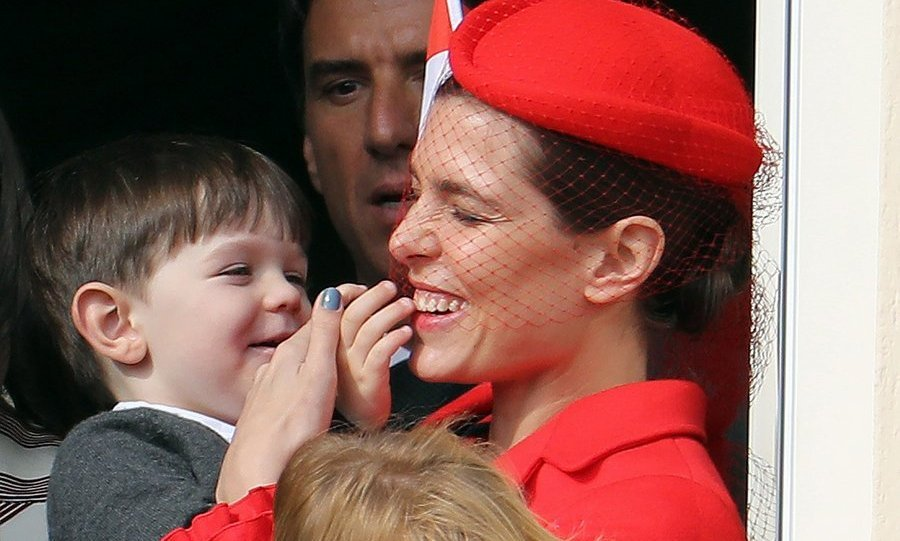 Charlotte was on mommy duty, too – she was also spotted keeping her son Raphaël entertained.