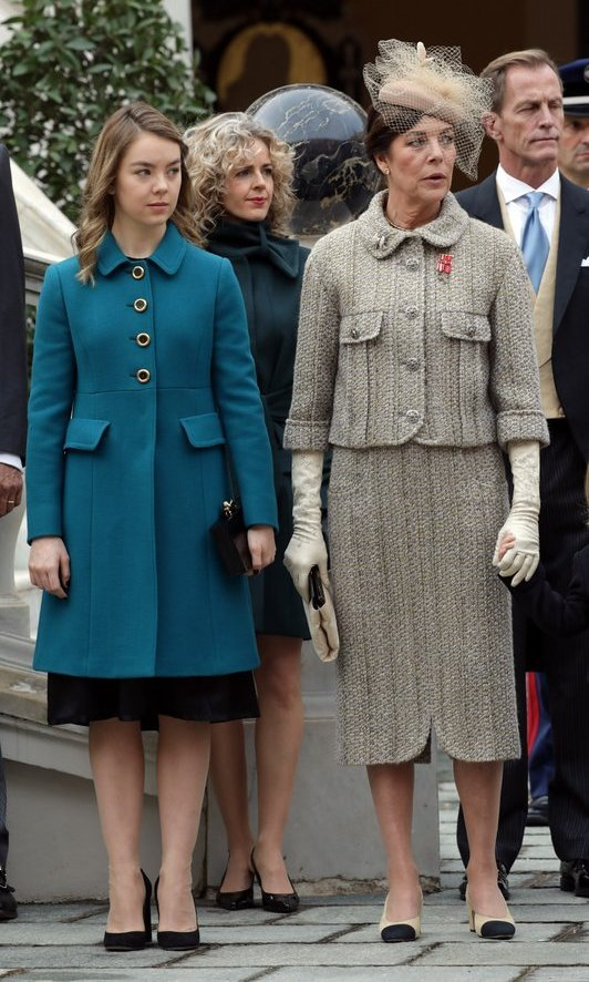 Princess Caroline, wearing Chanel, with daughter Princess Alexandra of Hanover.