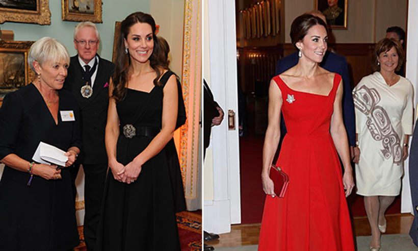 Kate Middleton Swaps Red Preen Cocktail Dress For Black At Charity Gala