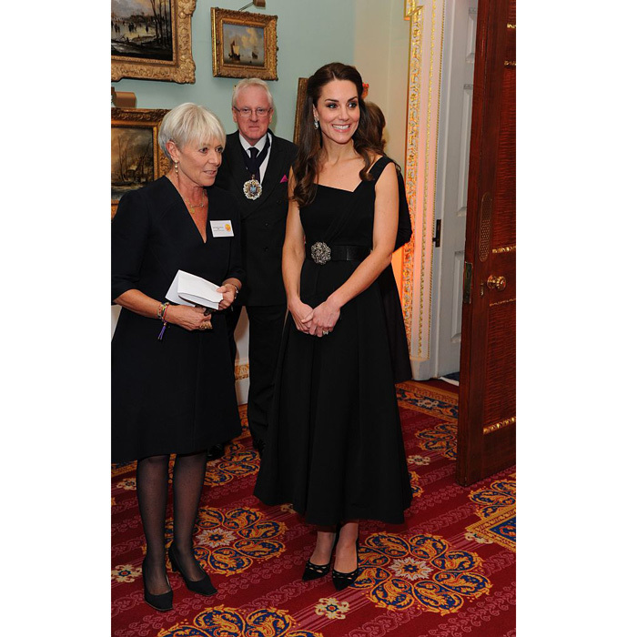 Kate dazzled in a Preen dress. 