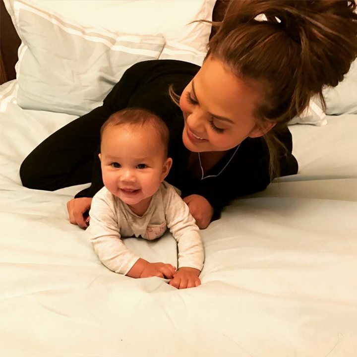 Luna is all smiles as she celebrates turning six-months-old.