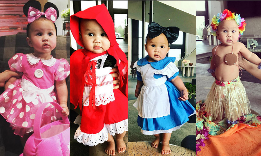 Chrissy didn't hold back when it came time to dress her little girl up for her first Halloween. 