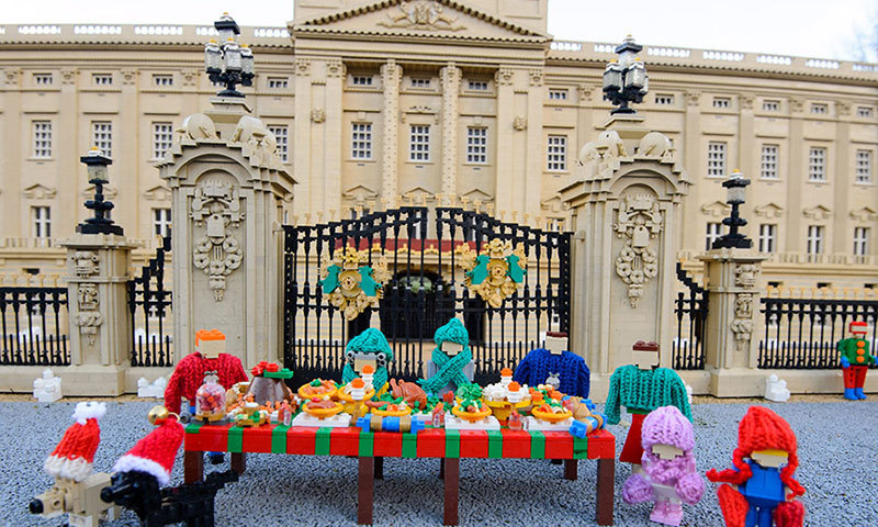 The park comes complete with tiny figurines of Prince William and Kate as well as their children Prince George and Princess Charlotte &mdash; all in Lego form!<br>Photo: &copy; Rex