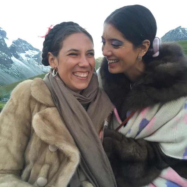 Tatiana, a co-founder of ethical fashion line Muzungu Sisters, keeps a tight-knit crew of style-minded friends closeby, including Lebanese jewellery designer Noor Fares. The BFFs got together this summer for mutual friend Eugenie Niarchos's 30th birthday in the Swiss Alps.