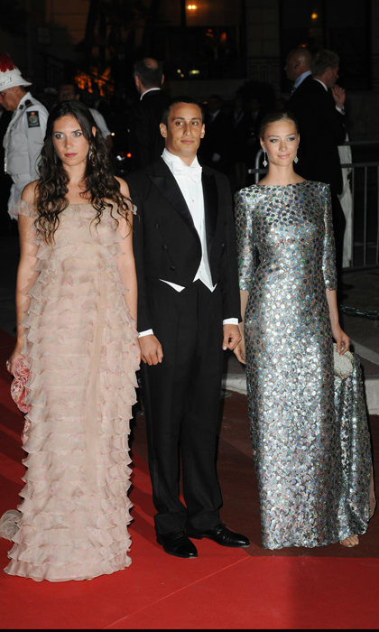 Mom-of-two Tatiana is no doubt offering maternal advice to sister-in-law Beatrice Borromeo, who's expecting her first child with husband Pierre Casiraghi. The stylish members of the Monegasque clan are seen here in 2011 at the religious wedding ceremony of Prince Albert II and Princess Charlene of Monaco with friend Alex Dellal (the British gallery owner who formerly dated Charlotte Casiraghi).<p>Photo: © Getty Images</p>