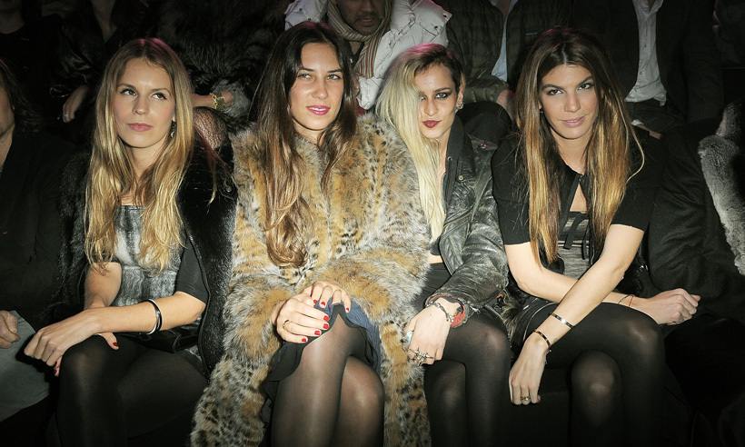 Talk about #squadgoals! Tatiana recently feted the 30th birthday of close pal Eugenie Niarchos (far left, daughter of Greek shipping tycoon Stavros Niarchos), at the five-star Hotel Kulm St. Moritz in Switzerland. The pair also count model Alice Dellal (second from right) and Italian socialite Bianca Brandolini d'Adda (far right) as part of their inner circle. <p>Photo: © Getty Images</p>