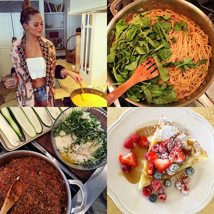 <h2>Chrissy Teigen</h2><p>Not only does Chrissy give us food envy with snaps of her mouth-watering meals, but she regularly shares her tips and tricks for recreating her family recipes at home.</p><p>There's no doubt she's firmly established herself as a foodie guru &mdash; she even has a cookbook, <em>Cravings</em>, in which she reveals her biggest cookery secrets.<br>Photo: &copy; Instagram/@chrissyteigen</p>
