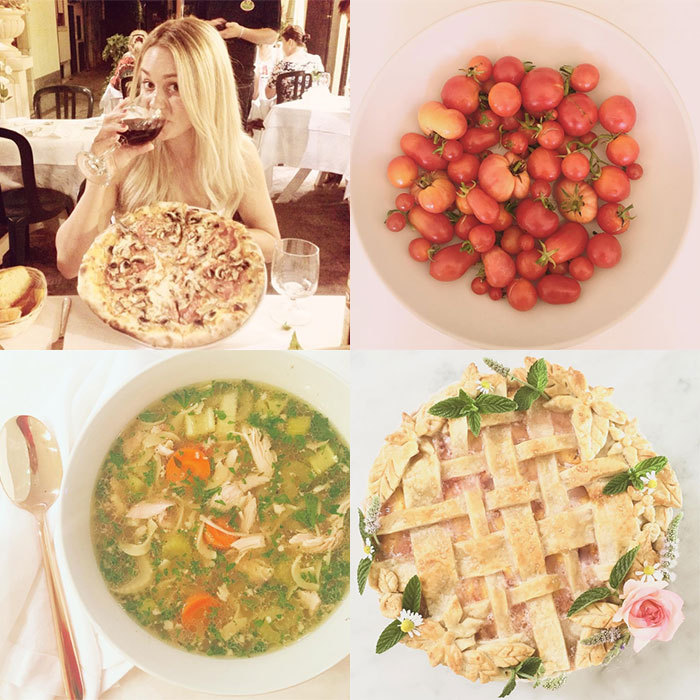 <h2>Lauren Conrad</h2><p>From picture-perfect pies to hand-picked vegetables from her garden, the former <em>The Hills</em> star constantly has us coveting her gorgeous Instagram foodie snaps. As well as revealing her favourite recipes, Lauren also gives her followers glimpses of what she eats, whether she's travelling abroad or enjoying a cosy night in.<br>Photo: &copy; Instagram/@laurenconrad</p>