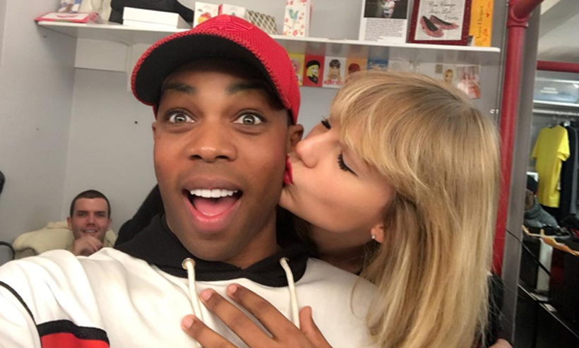 It's going to be hard for <em>Kinky Boots</em> star Todrick Hall to shake off this visit after Taylor Swift stopped by to see the hit Broadway musical. 