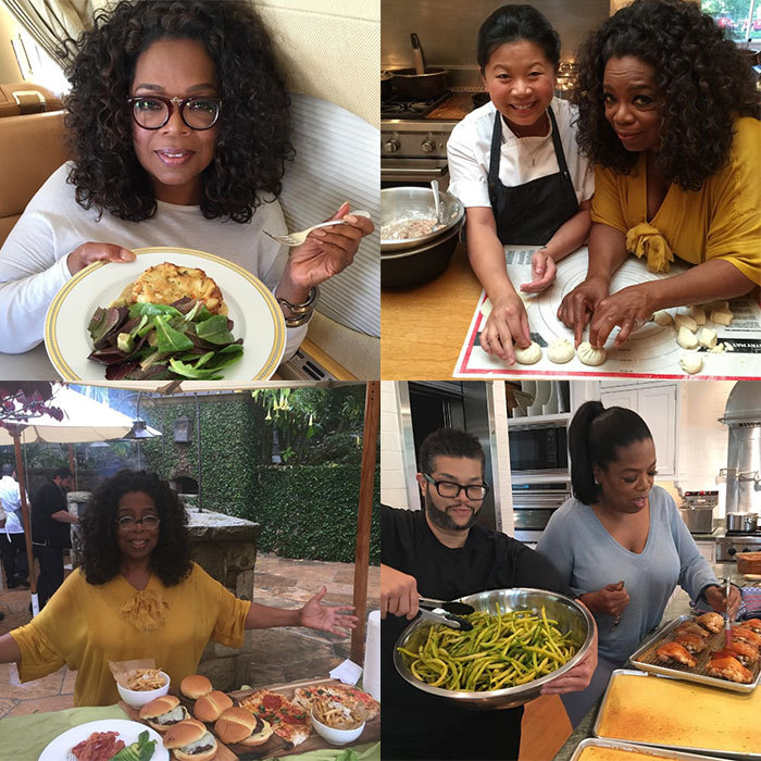 <h2>Oprah</h2><p>Oprah posts striking photos as she travels the world learning about different cuisines and how to prepare them, revealing her favourite foods and restaurants in the process.</p><p>Already hailed as a guru when it comes to food, the TV presenter delighted fans in summer 2016 when she revealed she was releasing her first-ever cookbook.<br>Photo: &copy; Instagram/@oprah</p>