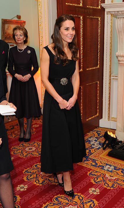 Kate looked elegant in a black cocktail dress from Preen at the Place2Be awards.