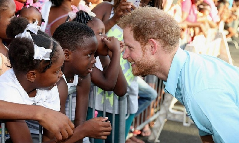 Prince Harry had quite the competition in a staring contest during his trip to Saint Lucia.