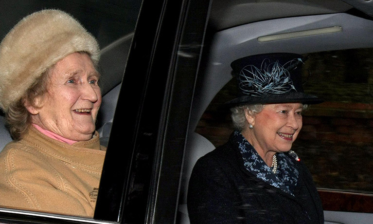 Queen's best friend and cousin Margaret Rhodes dies aged 91.<br>Photo: &copy; PA