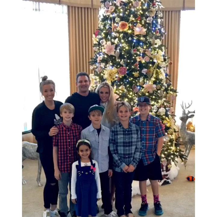 Britney Spears and her sons Sean Preston and Jayden got a head start on Christmas by decorating their stunning tree during Thanksgiving celebrations. 