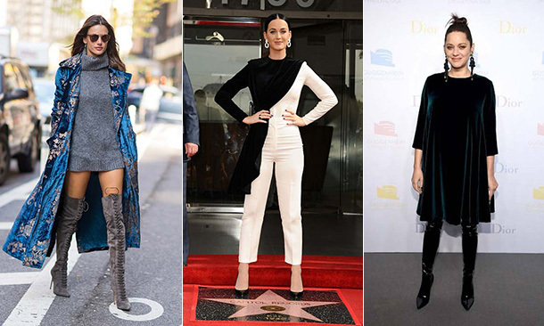 "Velvet is the <a href=""/fashion/"" target=""_blank"">trend</a> we're all crushing over this season, with everything from dresses to boots reimagined in the tactile fabric. These celebrities show us how to wear it..."