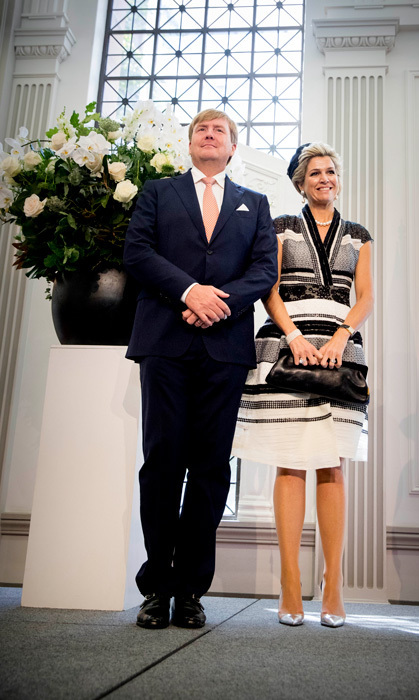 King Willem-Alexander and Queen Maxima attended a meeting with the Dutch community at Brisbane City Hall, during their state visit to Australia.<br>Photo: &copy; PA