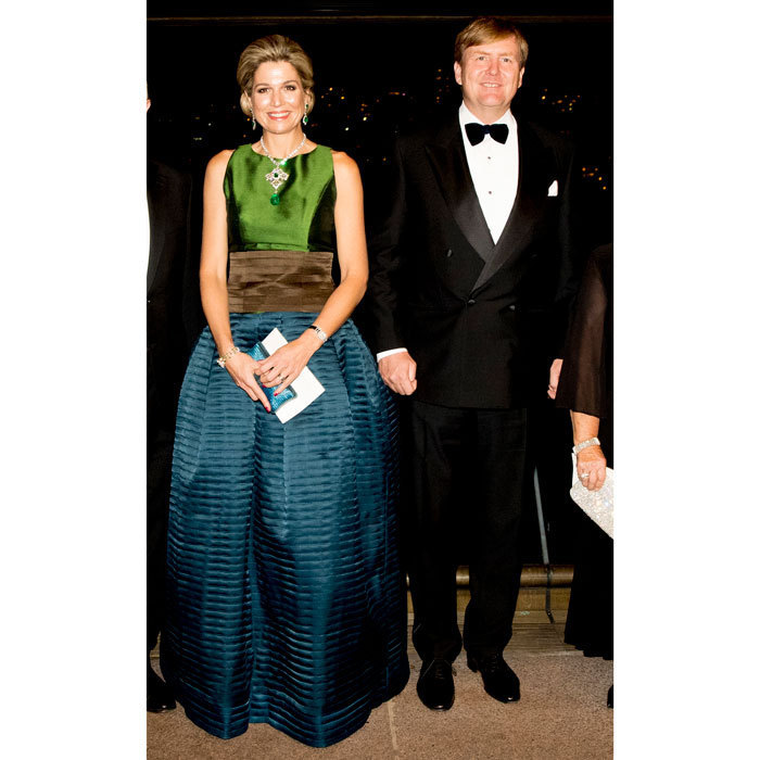 Queen Maxima wowed alongside her husband King Willem-Alexander, donning a full-length gown to a concert at the Sydney Opera House in Australia.<br>Photo: &copy; PA