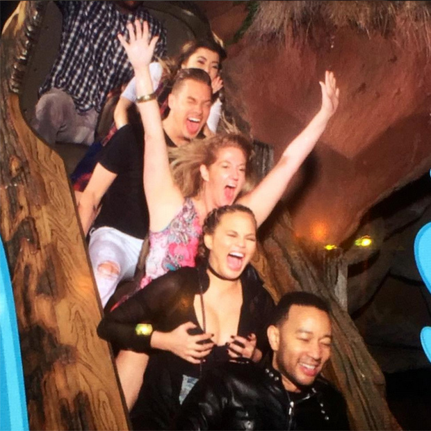 Luna's mom was worried about her milk supply while taking the plunge on Splash Mountain and Disneyland.