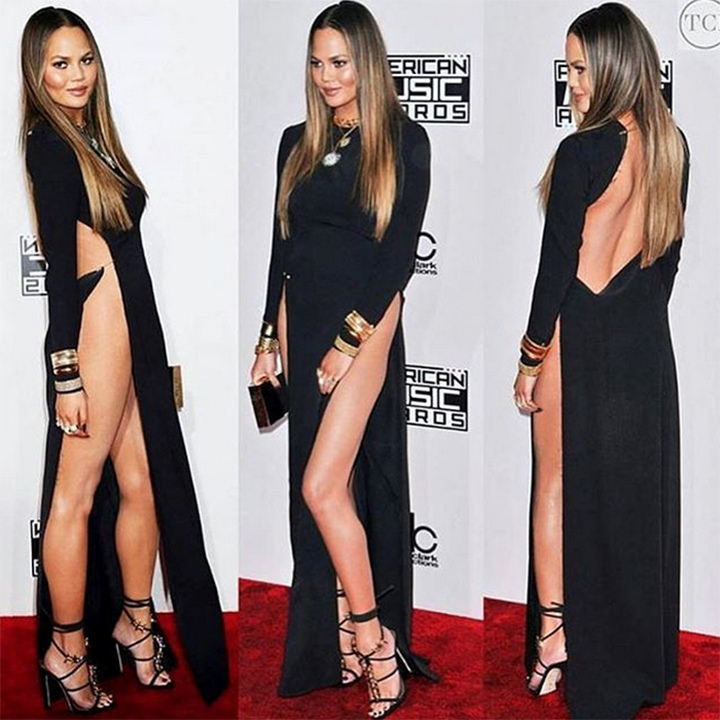 "The <i>Lip Sync Battle</i> star didn't let a near wardrobe malfunction keep her from celebrating her fierce red carpet fashion at the 2016 American Music Awards. ""Love you so so so much @jenatkinhair @1maryphillips @monicarosestyle @kimmiekyees (apologies to anyone harmed mentally or physically by my hooha) dress is #yousefakbar and shoes are @dsquared2 and laser hair removal is @sevlaseraesthetics,"" she wrote on Instagram.