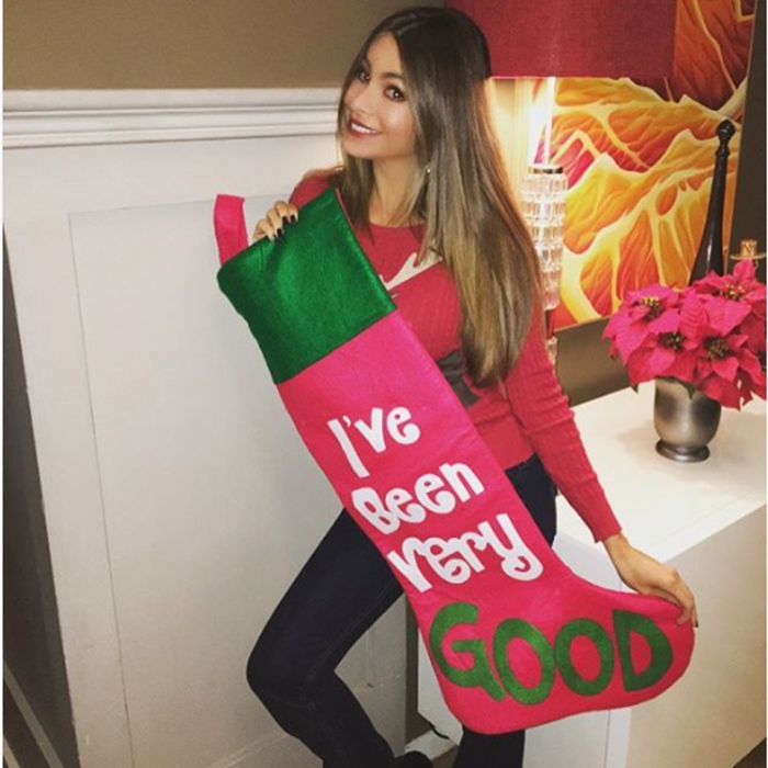 Sofia Vergara got into the holiday spirit on the set of <i>Modern Family</i>. 