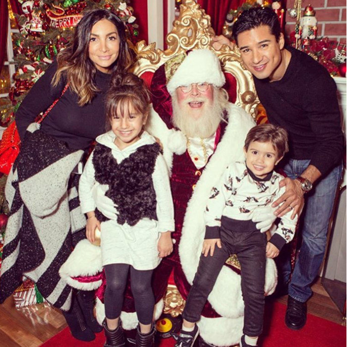 Ho ho ho! Mario Lopez and his family have already visited Santa Claus. 