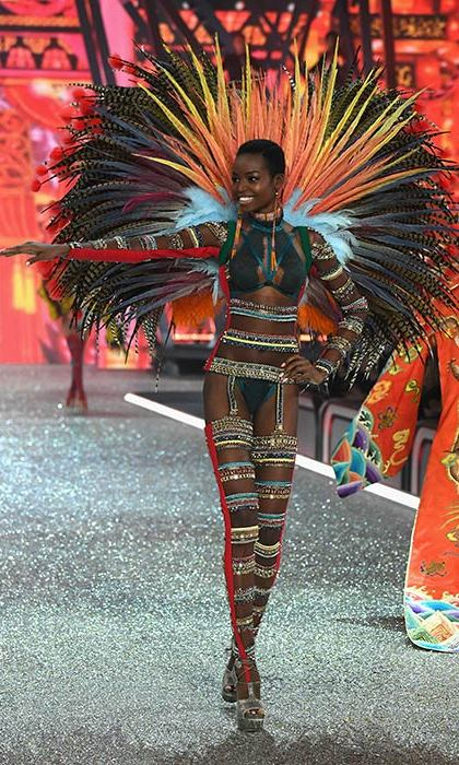 Maria Borges smiled as she walks the runway at the Victoria's Secret Fashion Show.<br>Photo: &copy; Getty Images