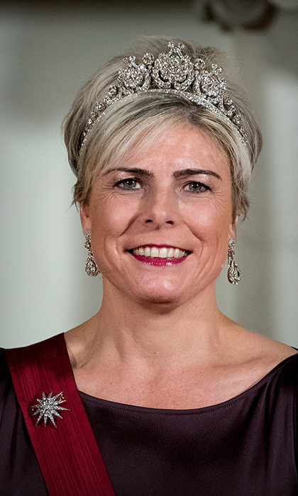 <h2>Princess Laurentien of the Netherlands</h2><p>The Princess kept it classic in a sparkling headpiece created in 1890 for Queen Emma. She complimented the tiara with diamond chandelier earrings and the diamond star that represents the family.<br>Photo: &copy; PA</p>
