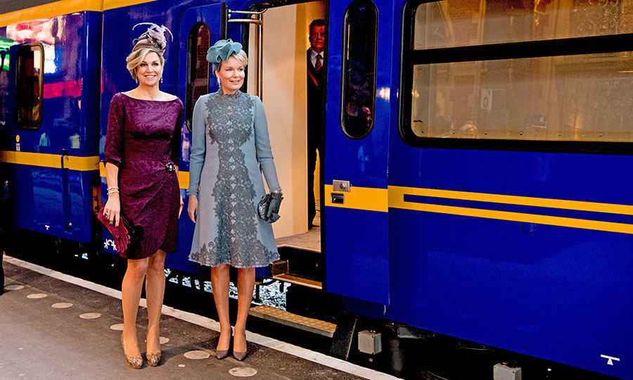 All aboard! Máxima and Mathilde visited the new Utrecht Central station and hopped on the Dutch Royal Train in Utrecht, Netherlands.