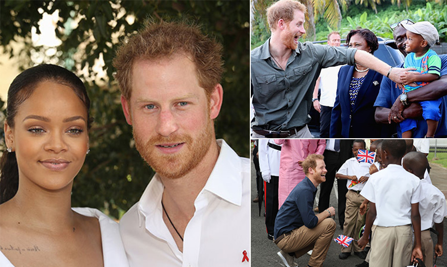 the best photos from prince harry u0026 39 s caribbean tour
