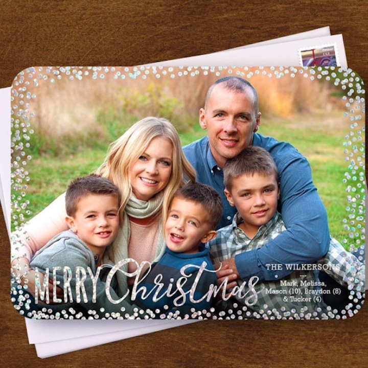 Melissa Joan Hart wished her fans a happy holiday season by sharing her family's Christmas card. 