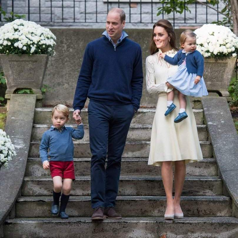 September 2016: The family of four was picture perfect as they arrived for a children's party for military families during the Royal Tour of Canada in Victoria, Canada.