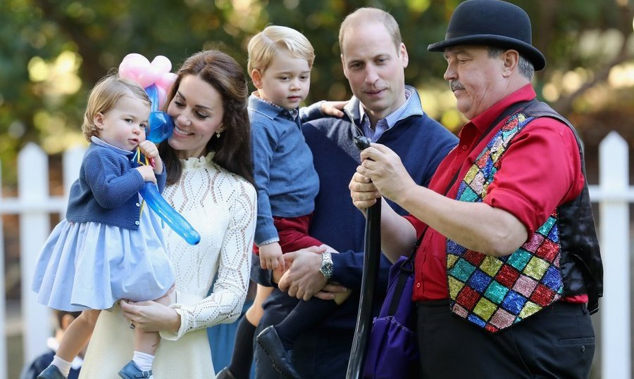 September 2016: The Cambridges enjoyed all the fun as a family while at a children's party held during the Royal Tour of Canada.