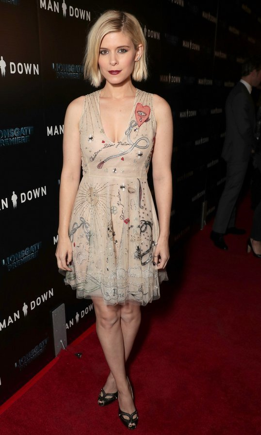 Kate Mara hit the <em>Man Down</em> premiere at ArcLight Hollywood.