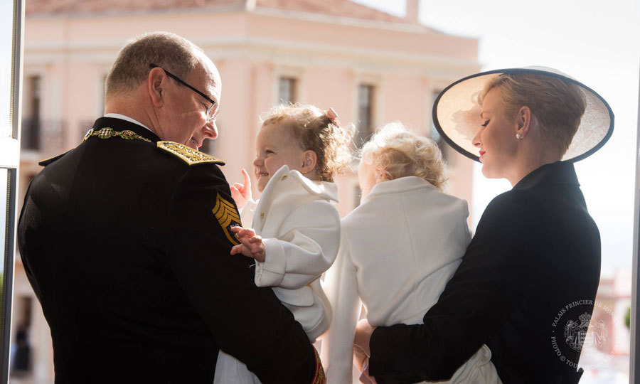 Prince Albert stole a tender moment with his daughter Princess Gabriella, while on the balcony of the royal palace celebrating Monaco's National Day.