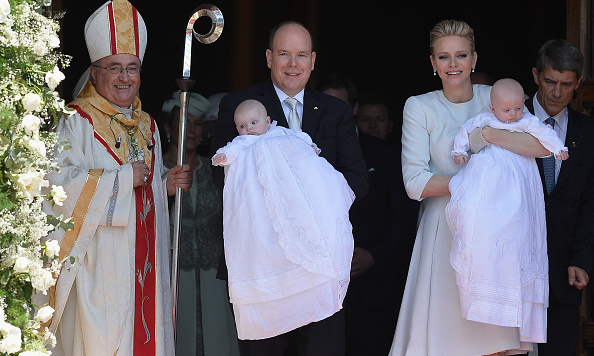 May 2015: Princess Gabriella and Prince Jacques celebrated their big christening in style with their parents. 