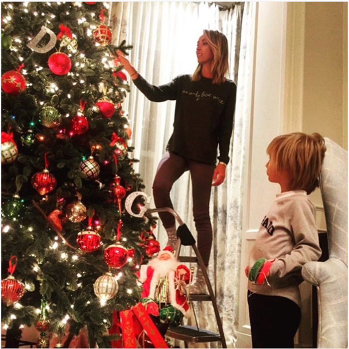 """It's beginning to look a lot like Christmas in the Rancic household  Just a few more strands of lights and ornaments and we will be ready for Santa  Couldn't have done it without my little helper and daddy❄️❤️️⛄️"" wrote the TV personality on Instagram. 