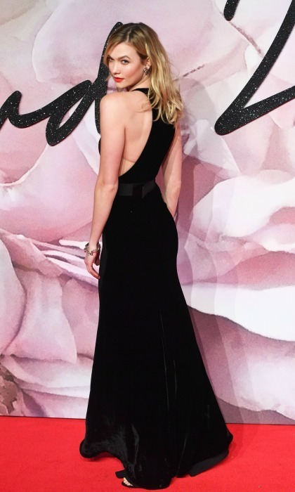 December 5: Showing off! Karlie Kloss wore a black cut out dress by Stella McCartney during the 2016 British Fashion Awards in London.