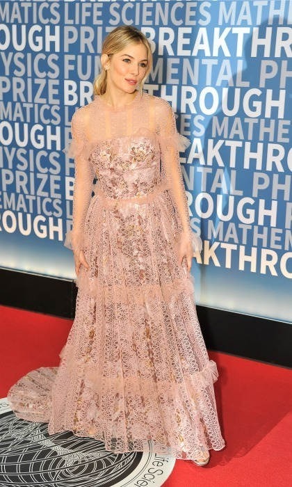 December 4: Sienna Miller was a vision in a blush pink gown during the 2017 Breakthrough Prize Ceremony at NASA Ames Research Center in Mountain View, California. 